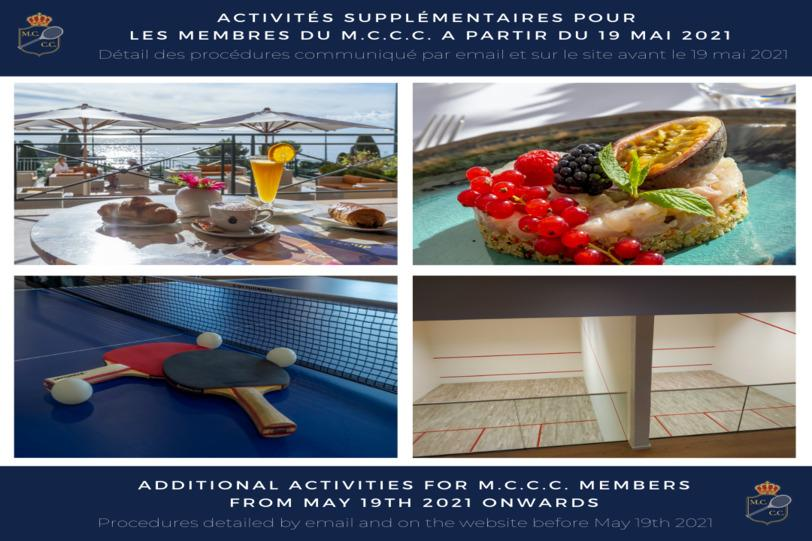 Additional activities at the M.C.C.C.