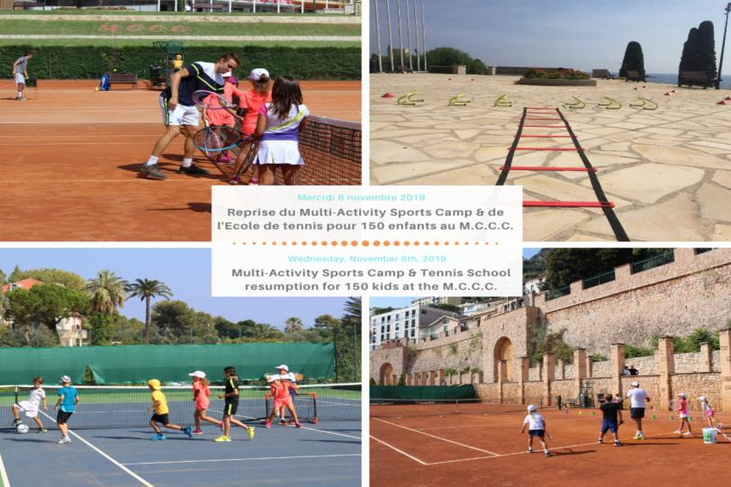 Resumption of the Multi-Activity Sports Camp & the tennis School