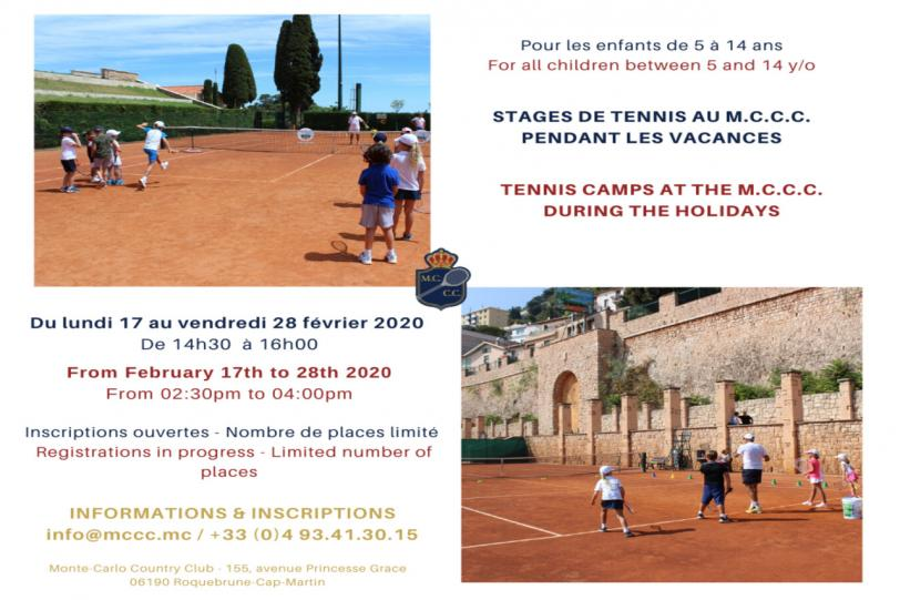 Tennis Camps - Winter Holidays 2020